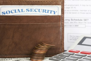 Social security card in a wallet, Social security disability