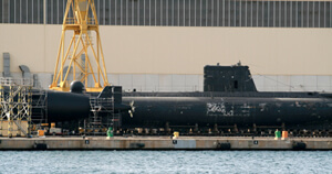 Submarine in a shipyard