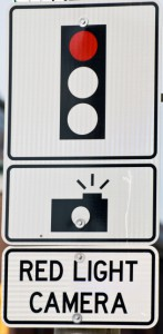 Red Light camera sign
