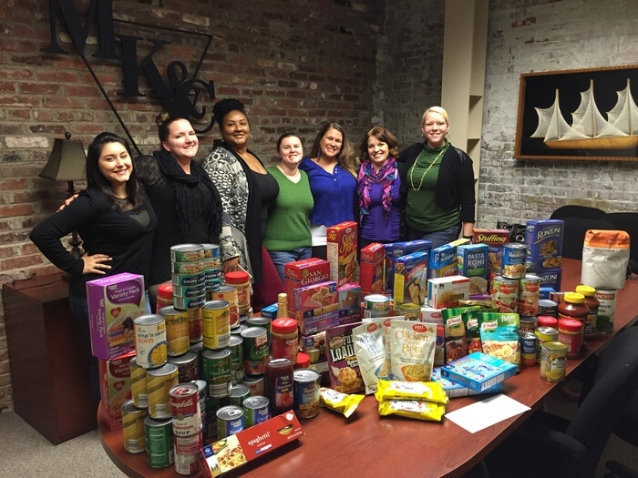 For kids food drive volunteers and Montagna Law
